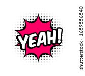 yeah comic style message in red ... | Shutterstock .eps vector #1659556540