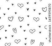 hand drawn hearts seamless... | Shutterstock .eps vector #1659595870