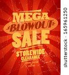 mega blowout sale  storewide... | Shutterstock .eps vector #165961250