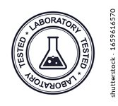 laboratory tested rubber stamp  ... | Shutterstock .eps vector #1659616570
