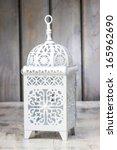 Oriental Lantern On Wooden...