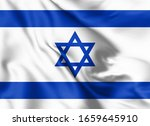 israel flag blowing in the wind....   Shutterstock . vector #1659645910
