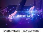 businessman touching huge... | Shutterstock . vector #1659695089