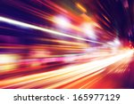 abstract image of night traffic ...