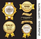 a collection of various badges... | Shutterstock . vector #1659786376