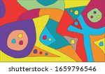 colorful abstract mural... | Shutterstock .eps vector #1659796546