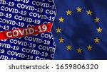 covid 19 title with european... | Shutterstock . vector #1659806320