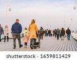 Wooden Pier In Sopot In The...