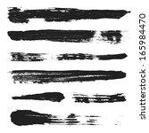 vector grunge brushes set 3 | Shutterstock .eps vector #165984470