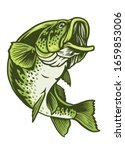 Vector Of Largemouth Bass Fish