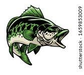 vector of big largemouth bass... | Shutterstock .eps vector #1659853009