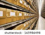 large group of cardboard boxes... | Shutterstock . vector #165986498
