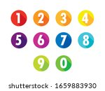 colorful flat number icons long ... | Shutterstock .eps vector #1659883930