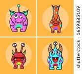cute little monster vector icon ... | Shutterstock .eps vector #1659885109