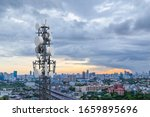 Telecommunication Tower With 5...