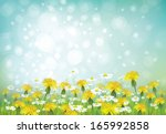vector spring background with... | Shutterstock .eps vector #165992858