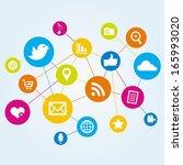 social network | Shutterstock .eps vector #165993020