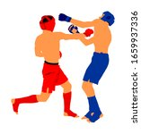 two mma fighters vector...   Shutterstock .eps vector #1659937336