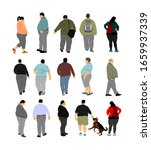 fat man walking health care...   Shutterstock .eps vector #1659937339