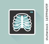vector illustration chest x ray ... | Shutterstock .eps vector #1659946939