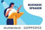 woman business speaker on...   Shutterstock .eps vector #1659953923
