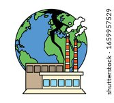 planet earth sick for pollution ... | Shutterstock .eps vector #1659957529
