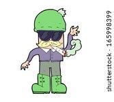 cartoon man smoking pot | Shutterstock .eps vector #165998399