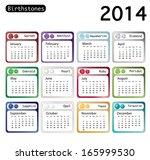 A 2014 Calendar Showing...