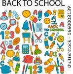 back to school doodles sketch... | Shutterstock .eps vector #1660008139