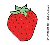 cartoon strawberry | Shutterstock .eps vector #166002128