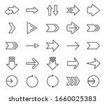 different arrows outline icons. ...