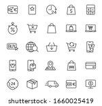 e shopping outline vector icons ...