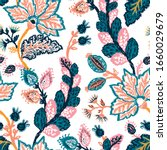 seamless pattern with fantasy... | Shutterstock .eps vector #1660029679