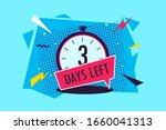 3 days left. vector logo with... | Shutterstock .eps vector #1660041313