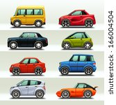 car icon set 3 | Shutterstock .eps vector #166004504