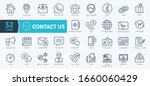 contact icons pack. thin line... | Shutterstock .eps vector #1660060429