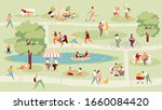 large crowd of people in the... | Shutterstock .eps vector #1660084420