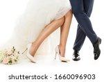 Wedding Couple Legs  Bride And...
