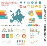 vector map of europe ... | Shutterstock .eps vector #166010414