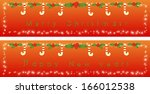 holly christmas and new year... | Shutterstock .eps vector #166012538