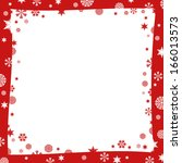 christmas frame. white and red... | Shutterstock . vector #166013573