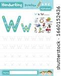 letter w uppercase and... | Shutterstock .eps vector #1660152436