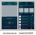 mobile music player ui template ...