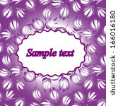 invitation or wedding card with ... | Shutterstock .eps vector #166016180