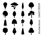 flat tree collection. set of... | Shutterstock .eps vector #1660178539