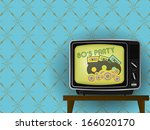 80s party   illustration of... | Shutterstock .eps vector #166020170