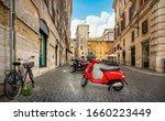 Little Street In Rome Near The...