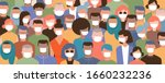 crowd on the street wearing... | Shutterstock .eps vector #1660232236