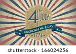 4th of july independence day... | Shutterstock .eps vector #166024256