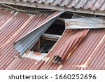 Corrugated Roof With A Hole....